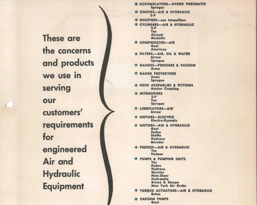 1950s Line Card- Tec Engineering Corp